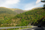 Scenic Route N-152 through the Pyrenees of Catalonia