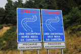 Bi-lingual warning signs - Catalan/Castillian