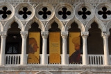 South Loggia of the Doge's Palace - with posters for an exhibition of Venice and Islam
