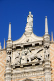 Sculpture group on the tympanum of the western façade of the Doge's Palace