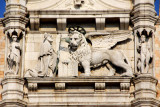 The Doge kneeling before the Lion of St. Mark, tympanum of the Doge's Palace