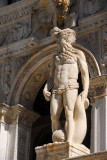 Statue of Neptune by Jacopo Sansovino (1565) one of the giants of the staircase