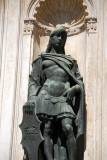 Bronze sculpture of a page symbolizing fidelity in a niche on the Foscari Arch