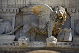 Lion of St. Mark, the symbol of Venice, over the Scala dei giganti, Doge's Palace