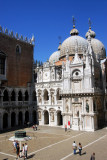 Renaissance Foscari Arch and Monopola Portico at the north end of the Doge's Palace courtyard