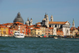 Canale della Giudecca is the largest of Venice's waterways capable of handing large Ocean-going ships