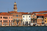 Like the Grand Canal, Canale della Giudecca is lined with old houses, though these are much more modest