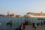 MS Costa Mediterranea sailing past the Doge's Palace with San Giorgio Maggiore in the background