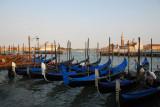 Venetian gondolas at the Molo, Piazzetta di San Marco