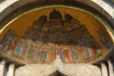 San Marco Mosaic - The procession bringing St. Mark's relics to the Basilica, above St. Alipius' Gate