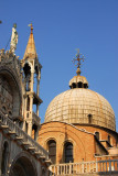 The exterior of one of the cupolas of St. Mark's Basilica