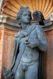 Bronze nude in a niche, St. Mark's Square