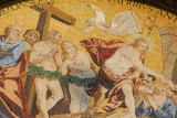 San Marco Mosaic - Moses, Adam and Eve withness the Resurrection of Christ, western façade lunette