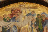 San Marco Mosaic - The Deposition from the Cross, western façade lunette above the Portal of St. Alipius