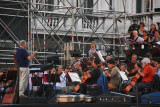 Rehearsal for a major concert, Piazza San Marco, Sept 2007