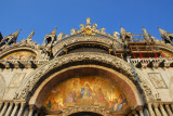 San Marco Mosaic - The Last Judgement over the main portal of western façade, 1836, by L. Querena