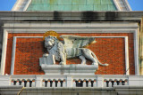 The Lion of St. Mark on the Campanile of Venice