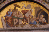 San Marco Mosaic - Moses, Adam and Eve withness the Resurrection of Christ (who is the crowned figure?)