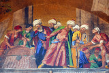 San Marco Mosaic, façade above the right portal - The Recovery of St. Mark's body in Alexandria in 828 AD
