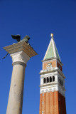 Campanile and Column of St. Mark brought to Venice in 1172