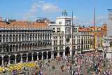 St. Mark's Square, the heart of Venice, seen from an upper floor of the Procuratie Nuove