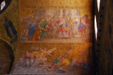 San Marco Mosaic - (bottom) Joachim's lamentation, the announcements to the shepherds, Joachim and Anna at the golden door