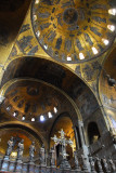 Looking above the iconostasis at the Cupola of the Ascencion and the Cupula of the Prophets