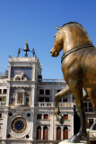 Clock Tower of St. Mark's with a bronze Greek horse