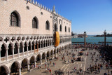 The western façade of the Doge's Palace overlooking Piazzetta San Marco