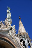 Statue above one of the lunettes, St. Mark's Basilica