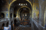 View of the nave from the upper gallery of St. Mark's Basilica, Venice