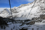 The joint Swiss-Italian ski area has 24 lifts, 2347m vertical drop, & 200km of piste with the longest run 22.5 km