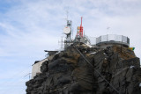 Mountain communications relay station above Cervinia
