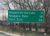 Canadian side - Niagara Falls road sign