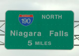 American side - Niagara Falls road sign