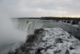 Edge of Horseshoe Falls, Niagara Falls, Ontario, winter