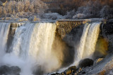 American Falls and Bridal Veil Falls in winter, Niagar Falls NY