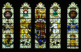 Stained glass window - Westminster Hall, Palace of Westminster, London (Parliament)