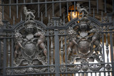 Ornate iron gate, Treasury Building, King Charles Street, Westminster SW1