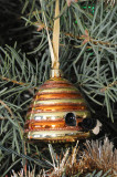 Glass Skep ornament