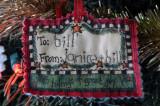 Handmade gift tag received at Christmas