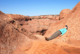 Trying in vain to achieve Enlightenment by becoming One with the Sandstone
