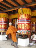 turning the prayer wheels