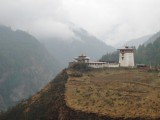 on the way to Ha valley - a lonely dzong overlooking the Wangchu River valley