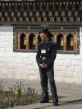 a Bhutanese police lady