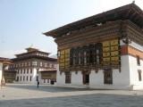 courtyard of Trashi Chhoe dzong
