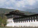 the Trashi Chhoe dzong facade