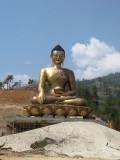 a huge Buddha statue under construction