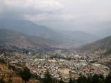 looking down towards Thimpu