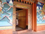 colorful mural at Phunakha dzong